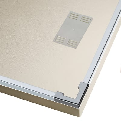 Doccia con porta scorrevole e lato fisso Neo 137 - 141 x 77 - 79 cm, H 200 cm vetro temperato 6 mm trasparente/silver