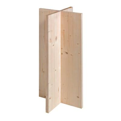 Base per tavolo legno L 40 cm grezzo