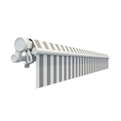 Tenda da sole a bracci estensibili su barra quadra 295 x 200 cm grigio