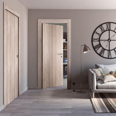 Porta da interno battente Plank 90 x H 210 cm reversibile