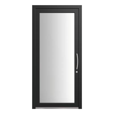 portoncino d'ingresso PVC Condo4 nero L 90 x H 210 sx