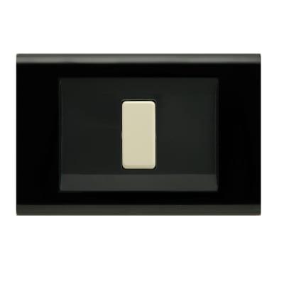 Placca 1 modulo FEB Laser nero