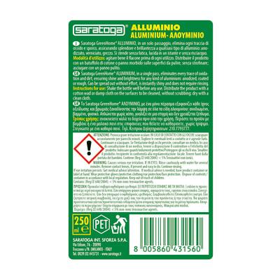 Pulitore Saratoga Greenhome alluminio 250 ml