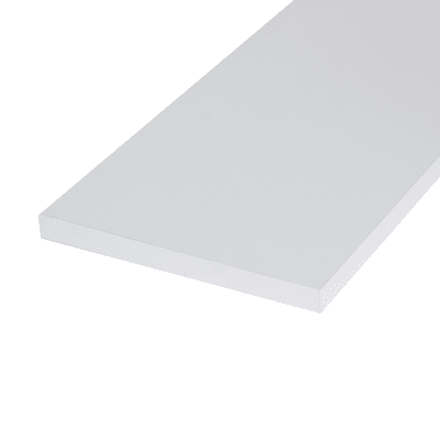 Pannello melaminico bianco 18 x 200 x 1000 mm