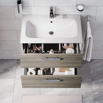 Mobile bagno Key grigio L 90 cm