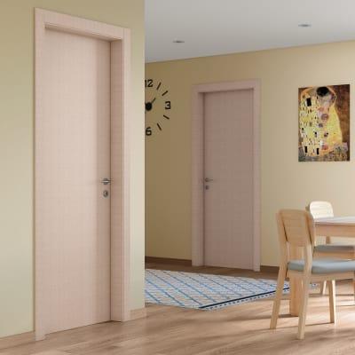 Porta da interno battente Klimt kaki 60 x H 210 cm sx