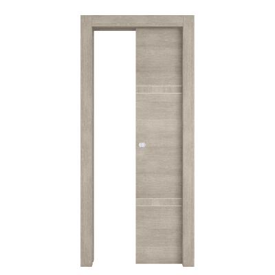 Porta da interno scorrevole Chasing rovere chiaro 70 x H 210 cm dx