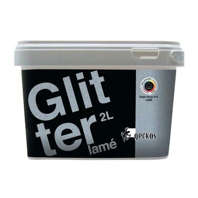 Pittura ad effetto decorativo Glitter Lamé Grigio Sasso 5 2 L