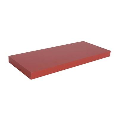Mensola Spaceo rosso L 60 x P 23, sp 3,8 cm