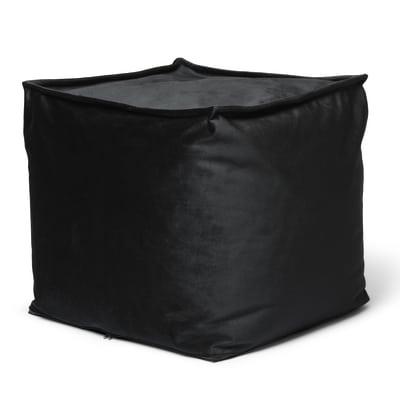 Cuscino pouf Viki nero 45 x 45 cm