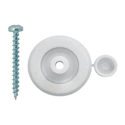 Rondellone con vite per policarbonato Onduline bianco ø 16 x 60 mm, confezione da 10 pezzi