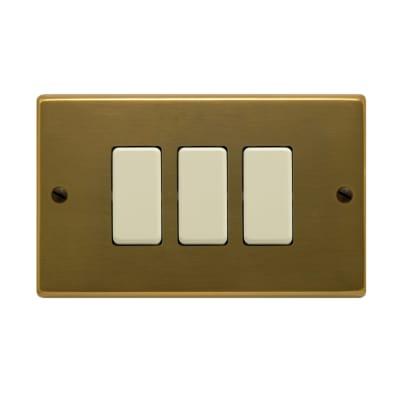 Placca 3 moduli FEB Laser bronzo