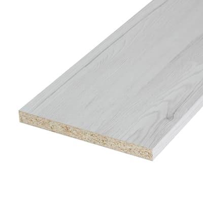 Pannello melaminico rovere bianco 18 x 600 x 2500 mm