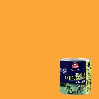 Smalto per ferro antiruggine giallo satinato 0,5 L