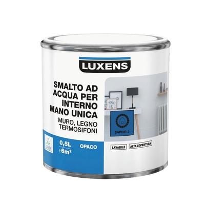 Smalto manounica Luxens all'acqua Blu Zaffiro 2 opaco 0.5 L