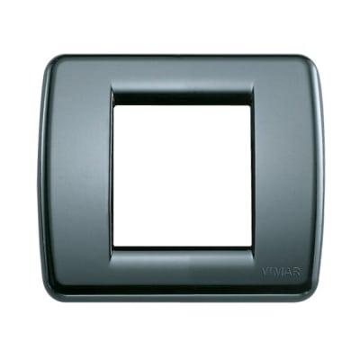 Placca 2 moduli Vimar Idea grigio grafite
