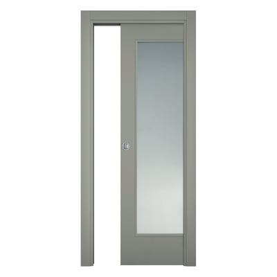 Porta da interno scorrevole Cinder grigio 70 x H 210 cm reversibile