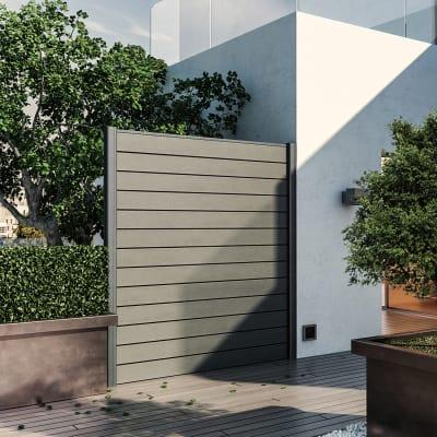 Composizione Kyoto 1 pannello antracite, L 187 x H 200 cm, da avvitare