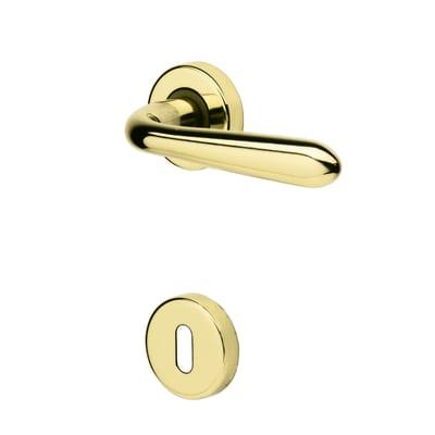 Maniglia per porta con rosetta e bocchetta GM05 in zama