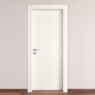 Porta da interno battente Fence bianco 80 x H 210 cm dx