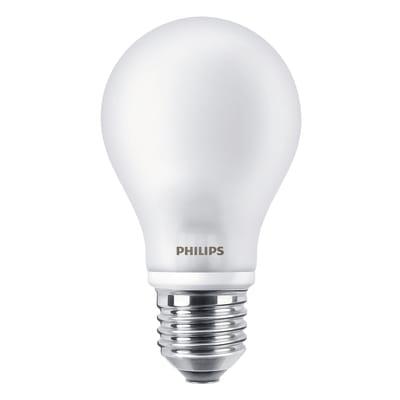 2 lampadine LED Philips E27 =75W goccia luce naturale 360°
