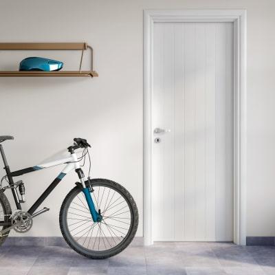 Porta da interno battente Pvc white bianco 80 x H 210 cm dx