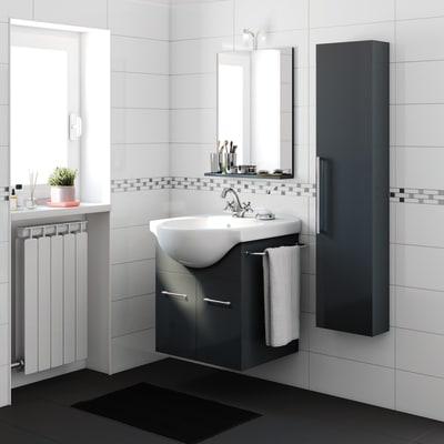 Mobile bagno Ginevra grigio grafite L 56,5 cm