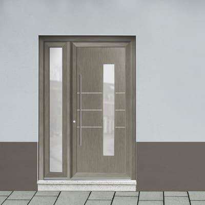 portoncino d'ingresso PVC Modern4 grigio L 132 x H 210 dx