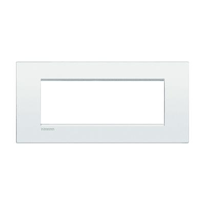 Placca 7 moduli BTicino Livinglight Air bianco puro