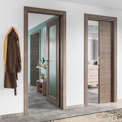 Porta da interno rototraslante Stylish grigio 80 x H 210 cm dx