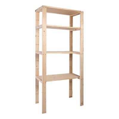 Scaffale legno Extra 4 ripiani L 80 x P 40 x H 170 cm