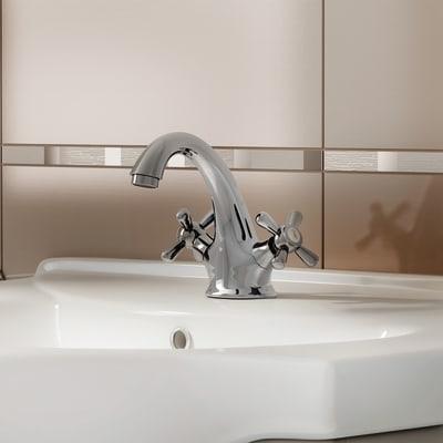 Mobile bagno Ginevra marrone L 56,5 cm