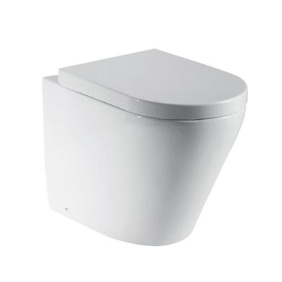 Vaso a pavimento filo muro Sensea Compacta con sedile soft close