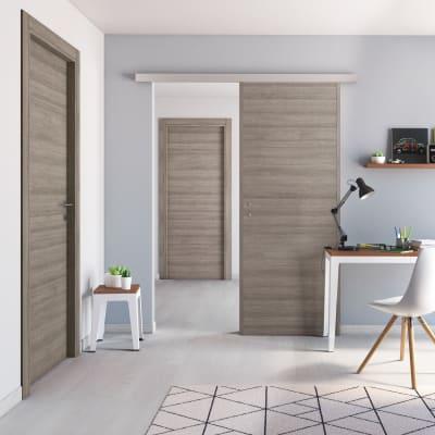 Porta da interno scorrevole One gray cenere 60 x H 210 cm reversibile
