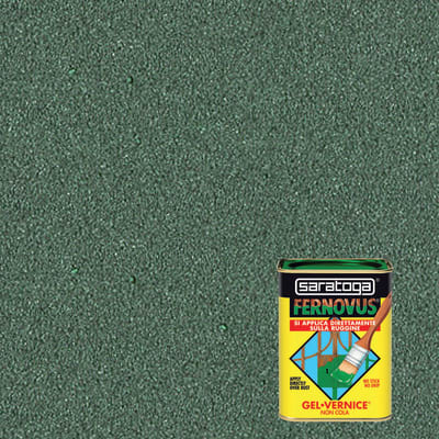 Smalto per ferro antiruggine Saratoga Fernovus verde metallizzato 0,75 L