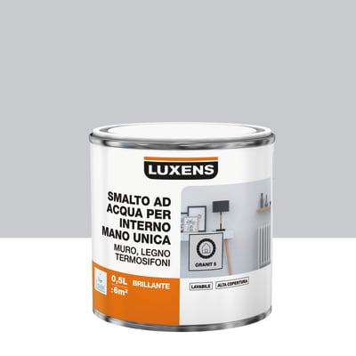 Smalto manounica Luxens all'acqua Grigio Granito 5 brillante 0.5 L