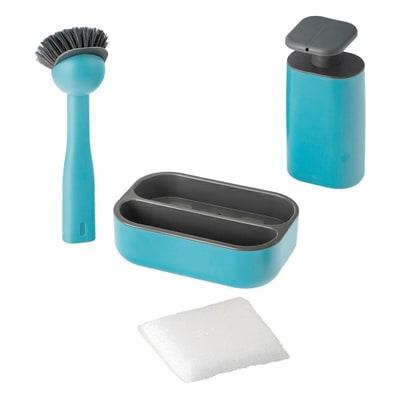 Vaschetta organizer Set lavello Rengo blu L 19 x P 23 x H 26,5 cm