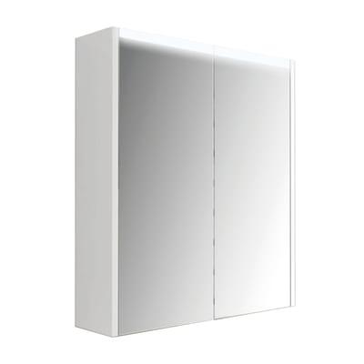 Armadietto a specchio L 60 x H 67 x P  15 cm bianco lucido