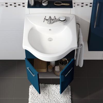 Mobile bagno Ginevra blu notte L 56,5 cm