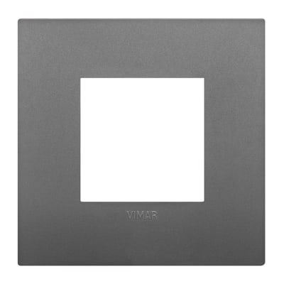 Placca 2 moduli Vimar Arké grigio