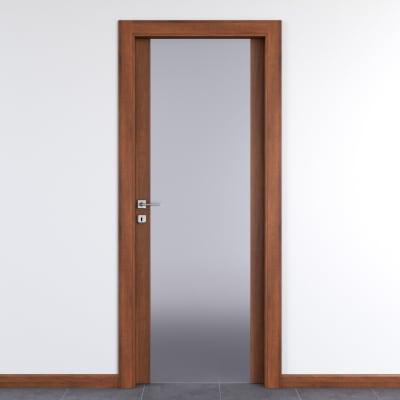 Porta da interno battente Alnitak noce nazionale 60 x H 210 cm dx