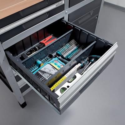 Banco da lavoro 1 cassetto,  L113 x H86 x P65 cm, portata 600 kg
