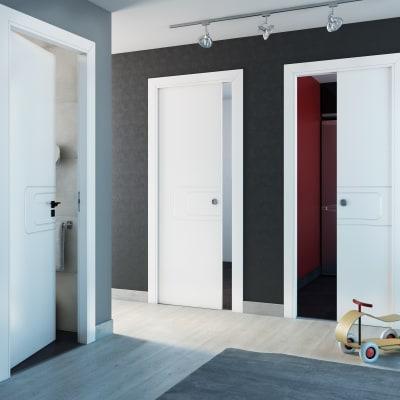 Porta da interno scorrevole Seventy bianco 80 x H 210 cm reversibile