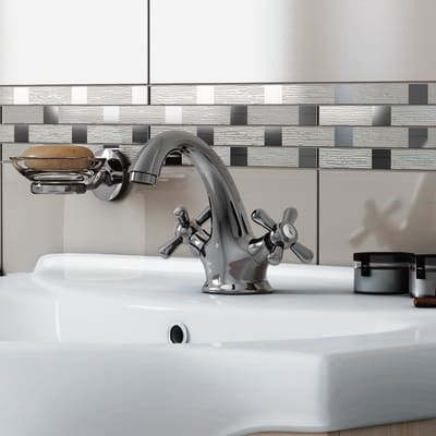 Mobile bagno Ginevra rovere L 81 cm