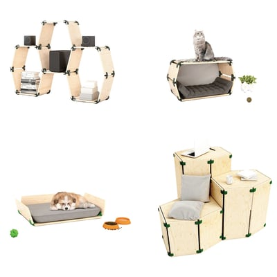 4 connettori Playwood 105° per pannelli in legno in plastica hi-tech verdone