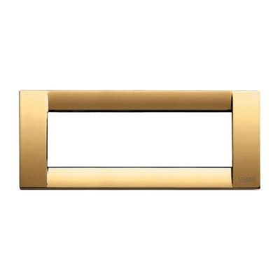 Placca 6 moduli Vimar Idea oro lucido