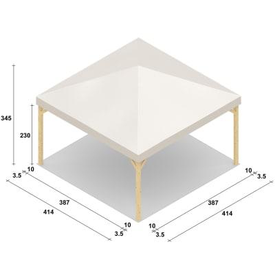 Gazebo Nikko copertura bianca 4,14 x 4,14 m