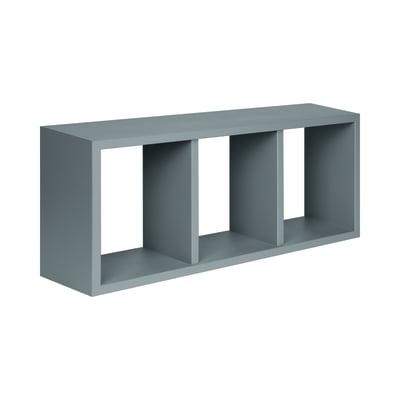Rettangolo con ripiani Spaceo grigio L 70 x P 15,5, sp 1,8 cm