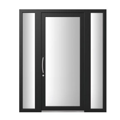 portoncino d'ingresso PVC Condo12 nero L 170 x H 210 dx
