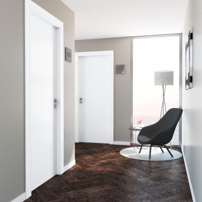 Porta per hotel battente Radisson white bianco 70 x H 210 cm dx